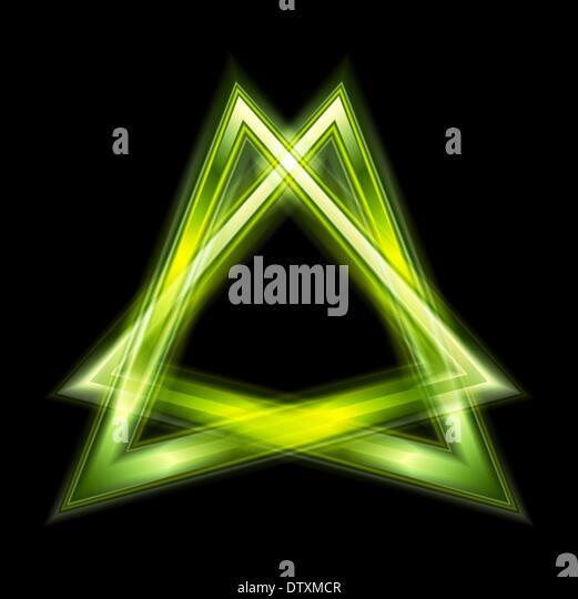 Bright Green Triangle Shape Stock Photos Amp Bright Green