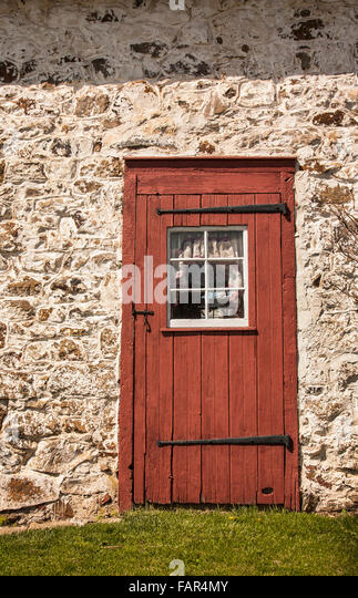 Red Doors Stone : Red doors farm stock photos images