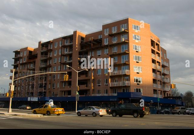 Apartment Building Queens queens new york brick building stock photos & queens new york