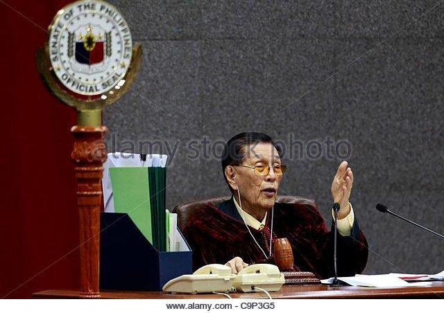 Resignation speech of Senate President Enrile
