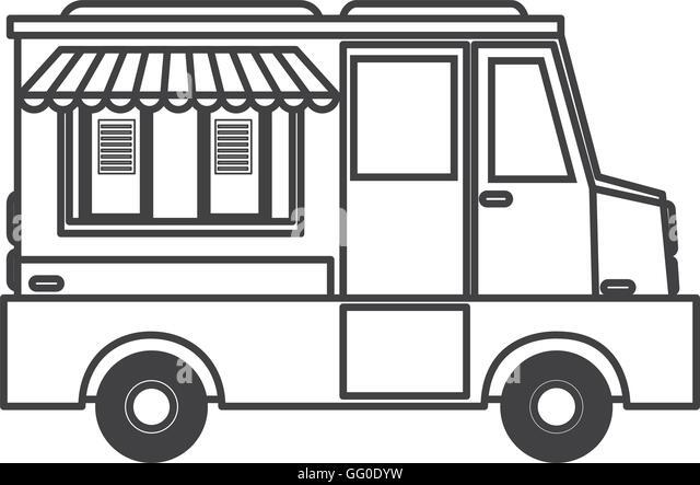 ice cream truck icon stock image