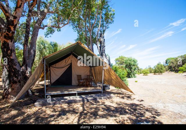 Safari tent in West Australia - Stock Image & Camping Tent Australia Stock Photos u0026 Camping Tent Australia Stock ...