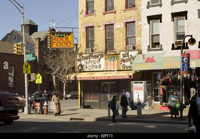 Harlem stock photos harlem stock images alamy - Restaurant boulevard saint martin ...