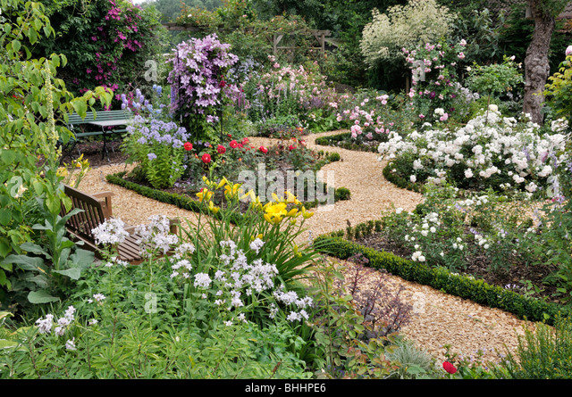 Rose Garden Design Marianne Detlef Stock Photos & Rose Garden