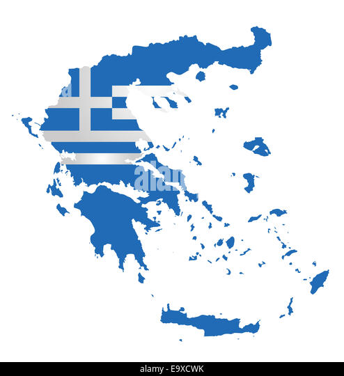 Outline Map Flag Greece Stock Photos  Outline Map Flag Greece