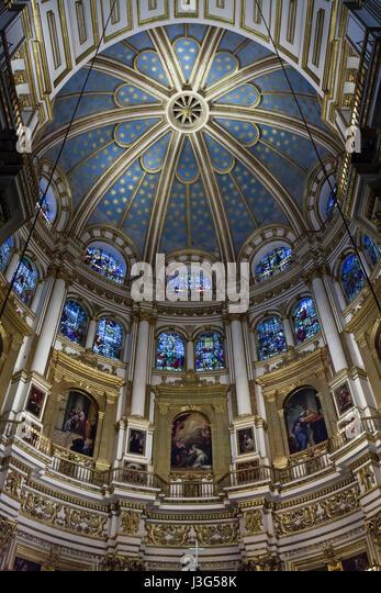 Main Altar Cathedral Granada Andalusia Stock Photos & Main ...