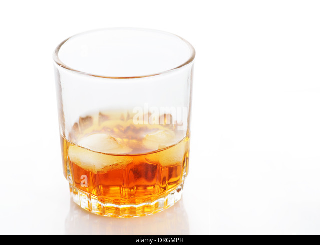 amber-alcohol-drink-in-a-glass-with-ice-