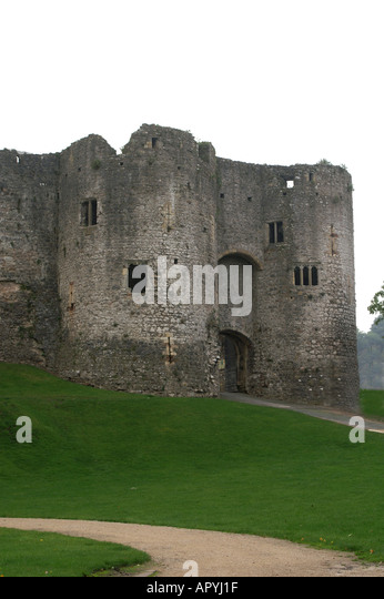 Chepstow United Kingdom  City pictures : The castle Chepstow Wales United Kingdom Great Britain Stock Image