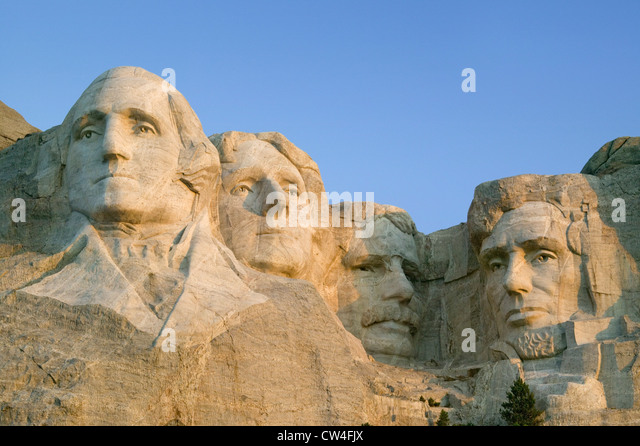 Thomas jefferson and george washington stock photos