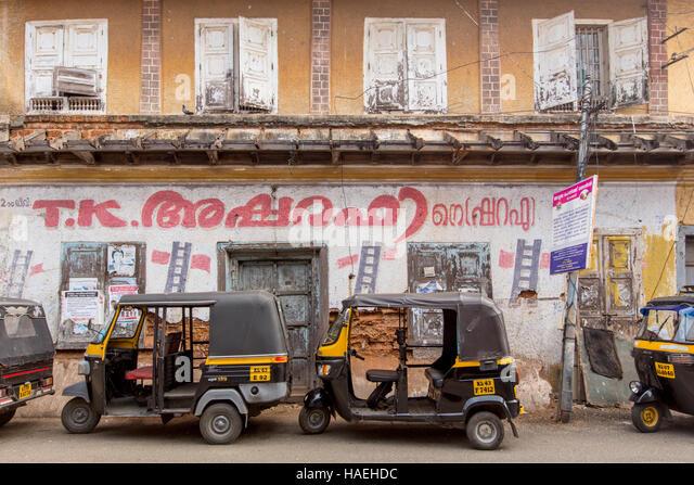 Auto Rickshaw For Rent In Trivandrum: Kerala Auto Stand Stock Photos & Kerala Auto Stand Stock