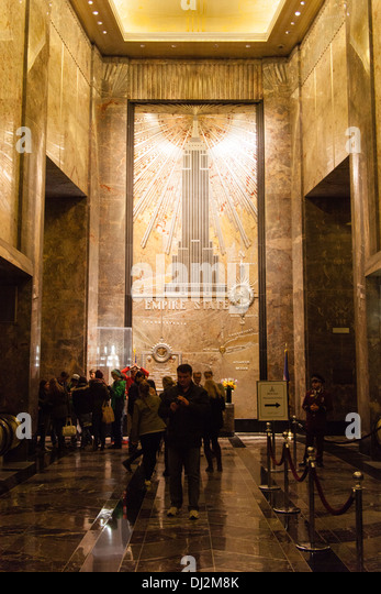Deco mural stock photos deco mural stock images alamy for Empire state building mural