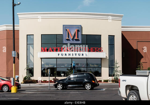 The Exterior Front Of Mathis Brothers Furniture Store In Oklahoma City,  Oklahoma, USA.