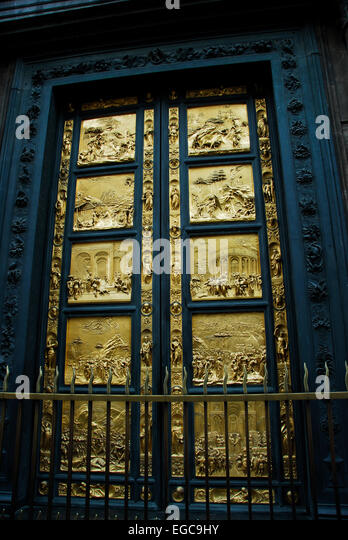 East Doors of Baptistry in Florence Italy - Stock Image & Doors Baptistry Florence Stock Photos \u0026 Doors Baptistry Florence ... Pezcame.Com