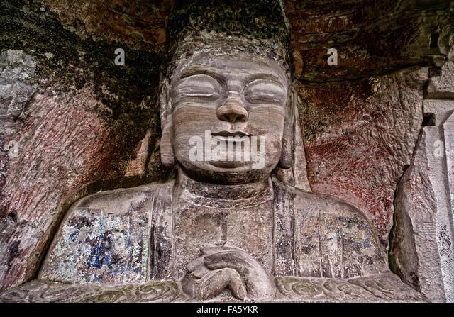 Rock carvings dazu stock photos