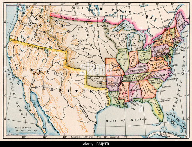 Stock Photos Stock Images Alamy - Map of the us in 1830