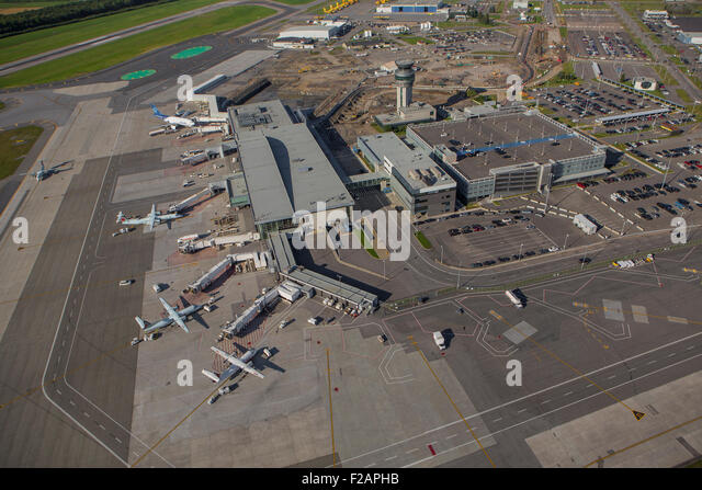 Aeroporto Quebec City : City airport aerial stock photos
