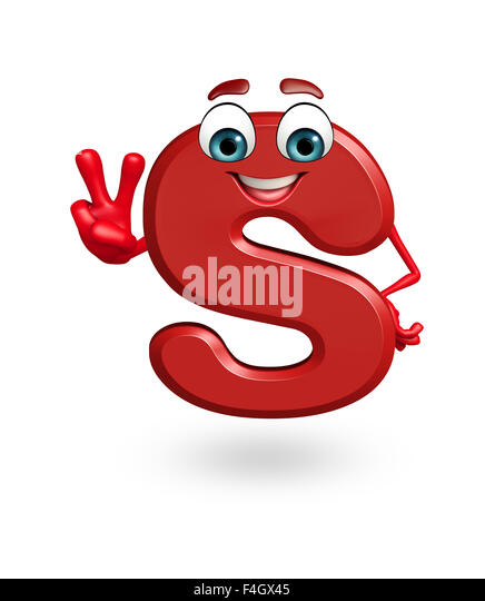 3 Letter Cartoon Characters : Letter s fancy font stock photos