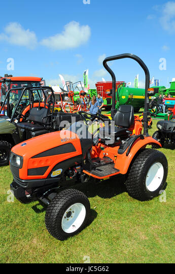 farming agricultural vehicles machinery plant hire sales show - Stock Image