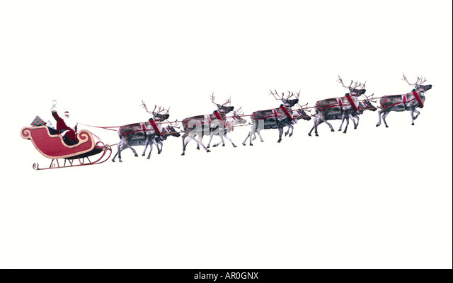 Reindeer and sleigh with presents outdoor christmas decoration stock - Pin Santa On Sleigh W Presents Amp 4 Reindeer Ho Preiser