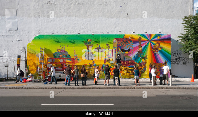 Bowery new york city stock photos bowery new york city for Bowery mural nyc
