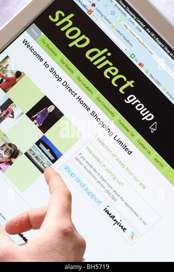 Shop Direct Group Online Home Shopping Website Www Home Page Stock Image