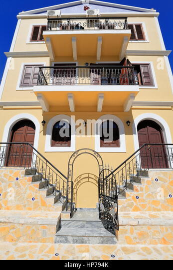 Iron grating stock photos iron grating stock images alamy - The house with protruding windows ...