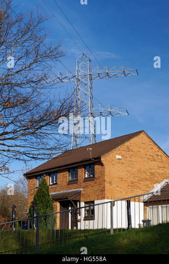 Houses High Voltage Power Lines Stock Photos & Houses High ...