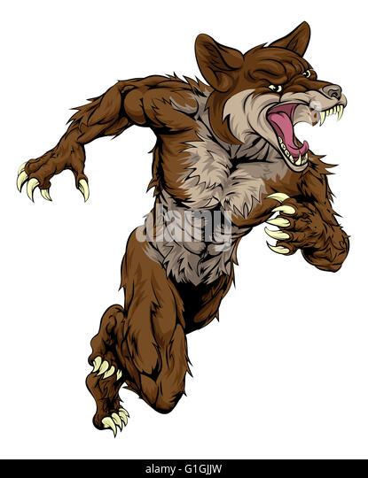 snarling dog cartoon
