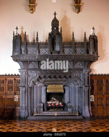 Gothic Style Fireplace Stock Photos & Gothic Style Fireplace Stock ...