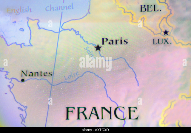 Close Up Map Country France Located Stock Photos Close Up Map - Where is france located