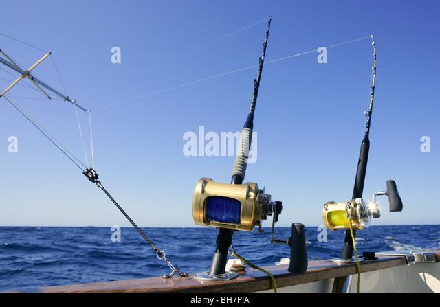 Big marlin stock photos big marlin stock images alamy for Boat fishing games