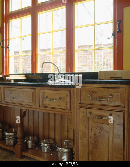 Traditional neutral fitted stock photos traditional for Wooden fitted kitchen
