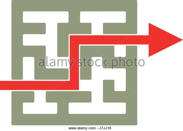Labyrinth Stock Vector Images Alamy