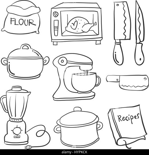Rice black and white stock photos images page 2 alamy for Kitchen set drawing