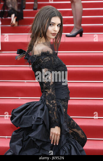 Emily Ratajkowski at the 'Nelyubov / Loveless' premiere during the 70th Cannes Film Festival at the Palais - Stock Image