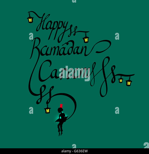 Ramadan calligraphy stock photos