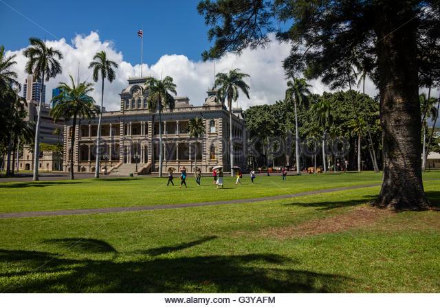 Queen Liliuokalani Palace Inside Iolani Stock Photos &a...