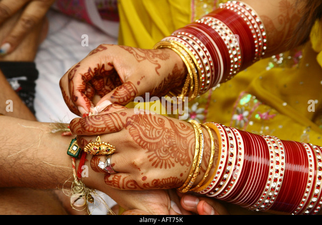 Indian Wedding Games Stock Photos