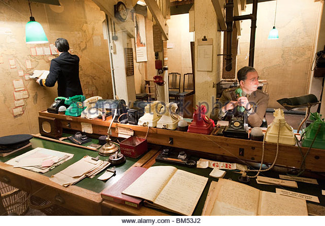 War room stock photos war room stock images alamy - Churchill war cabinet rooms ...