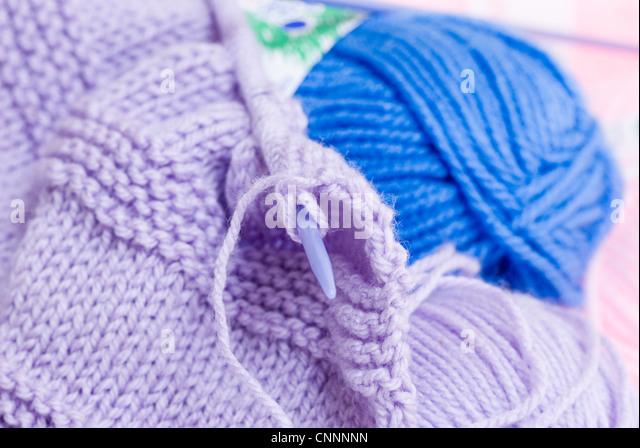 Knitting Needles And Wool : Knitting needles and wool stock photos