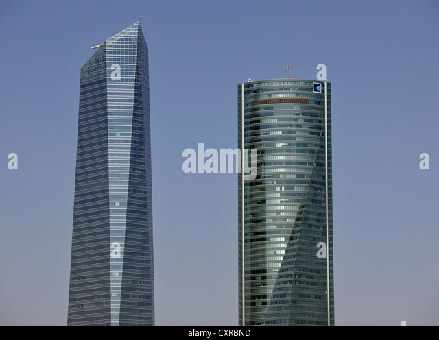 cuatro torres business area formerly the madrid arena with four skyscrapers here torre