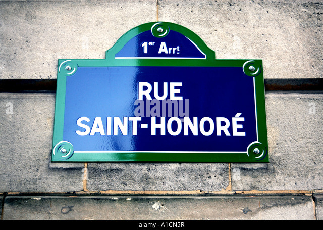 rue saint honore stock photos rue saint honore stock. Black Bedroom Furniture Sets. Home Design Ideas