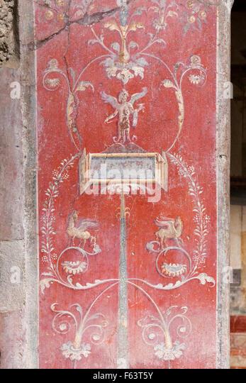pompeii fresco stock photos pompeii fresco stock images alamy. Black Bedroom Furniture Sets. Home Design Ideas