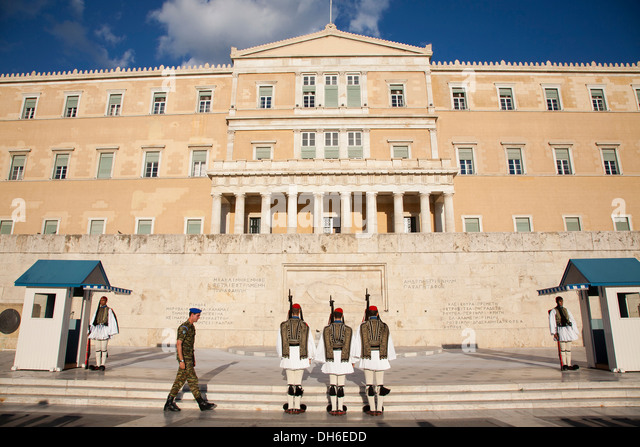 Changing Guard Parliament Building Syntagmatos Square ...