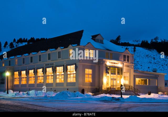 mammoth hot springs hotel stock photos & mammoth hot springs hotel