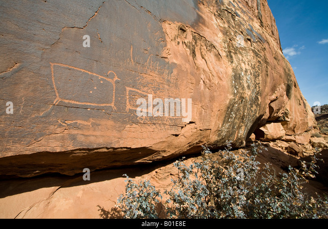 Petroglyphs near moab utah stock photo picture and for California chiude l utah
