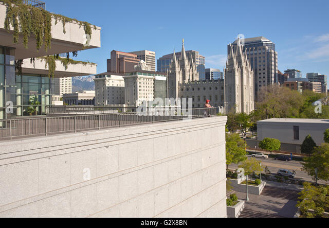 Salt lake city utah skyline stock photos salt lake city for Architecture firms salt lake city