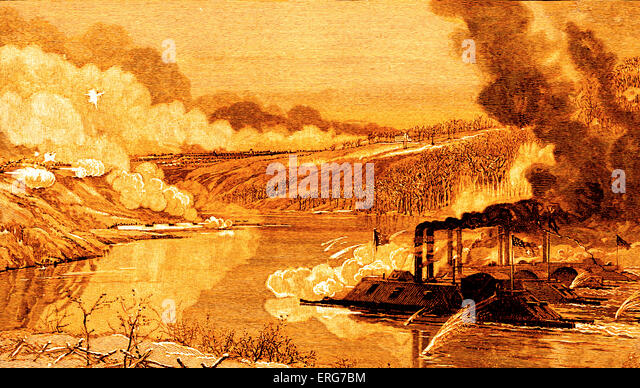 Gunboats At The Battle Of Fort Donelson On 14 February 1862 American Civil War