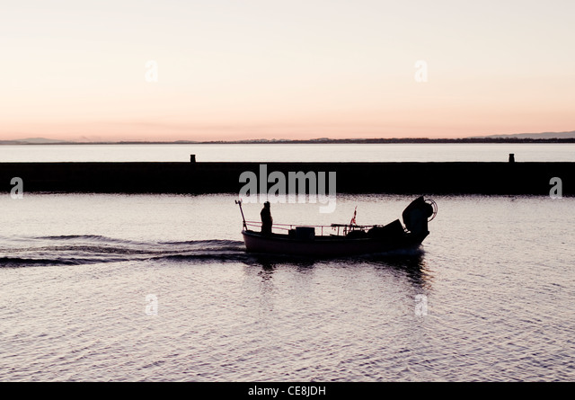 Fishing boat net winch stock photos fishing boat net for One man fishing boat