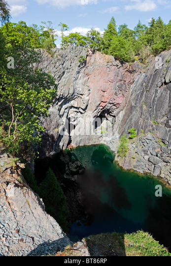 The Emerald Lake At Hogde Close MMine On Holme Fell In District National Park